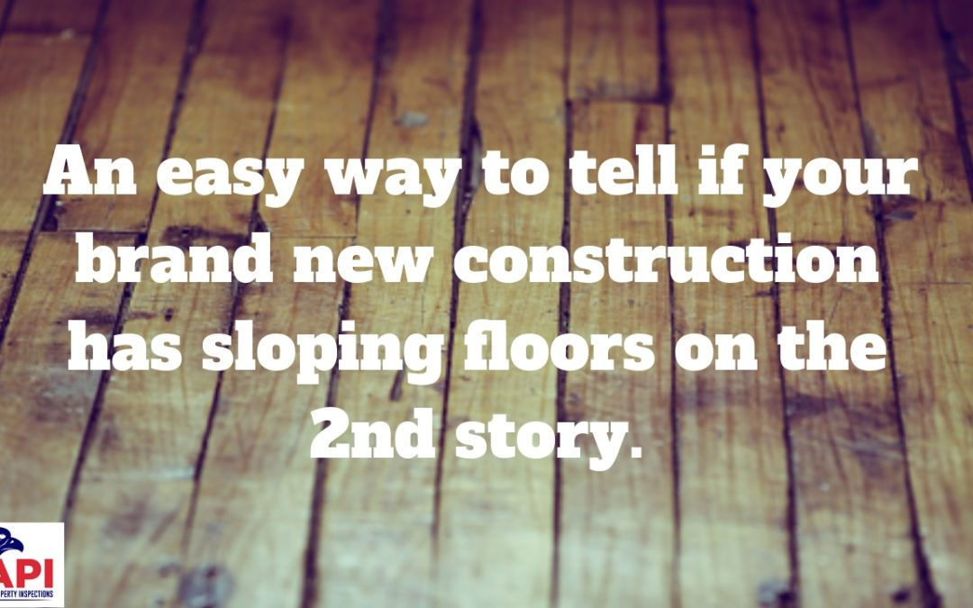 Does Your Brand New 2 Story Home Have Sloping Floors?
